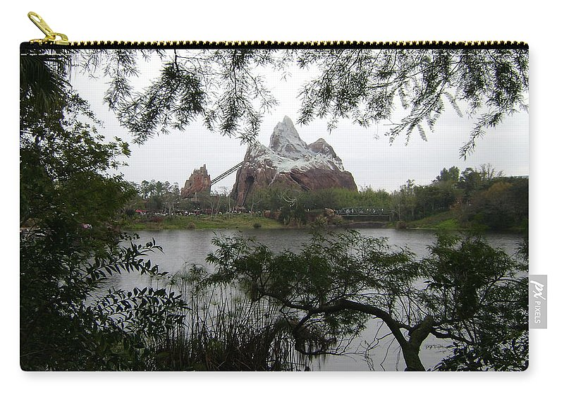 Everest Carry-all Pouch featuring the photograph Distant Everest by Rachel Kaufmann