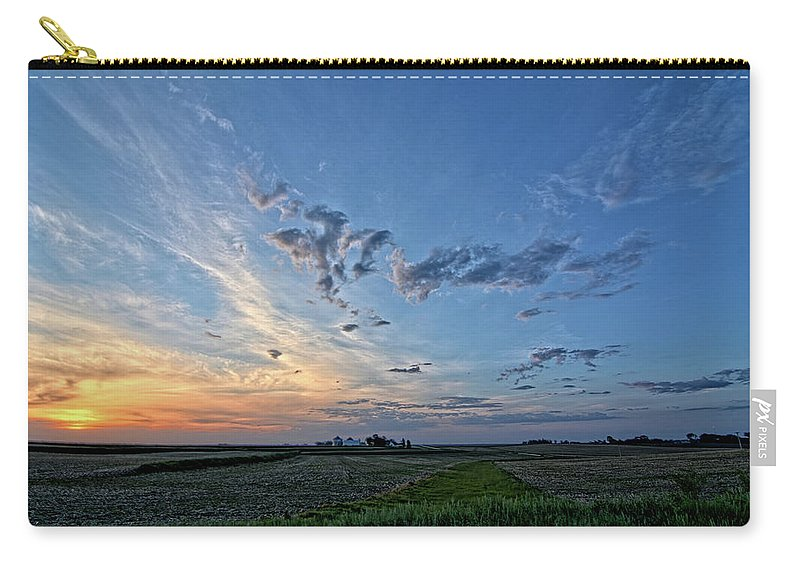 Sunrise Carry-all Pouch featuring the photograph Distant Farm by Bonfire Photography