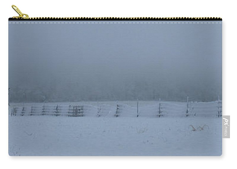 Winter Carry-all Pouch featuring the photograph Distant Glow by Lori Tambakis