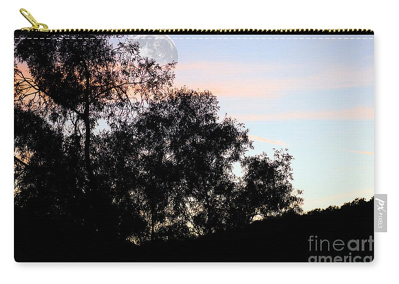 Clay Carry-all Pouch featuring the photograph Distant Moon by Clayton Bruster