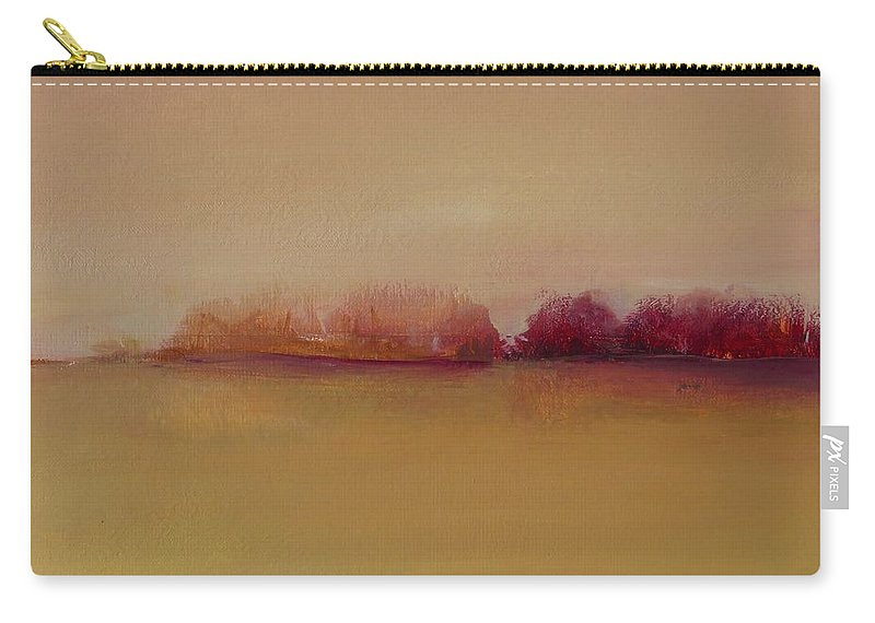 Landscape Carry-all Pouch featuring the painting Distant Red Trees by Michelle Abrams