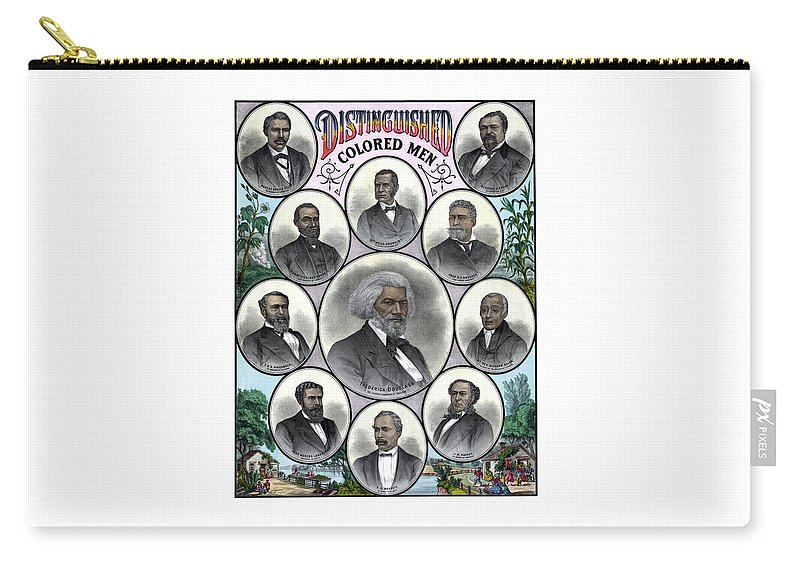 Black History Carry-all Pouch featuring the painting Distinguished Colored Men by War Is Hell Store