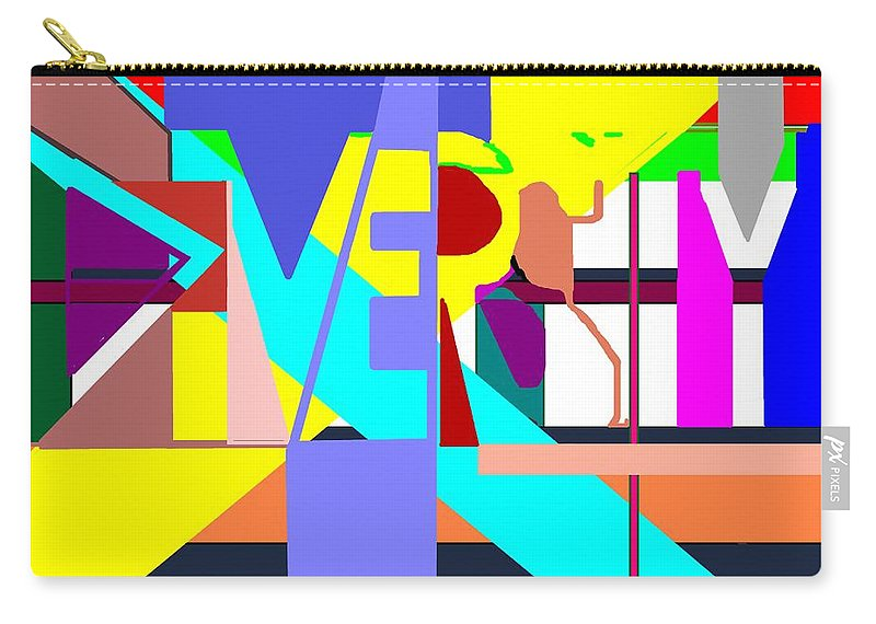Diversity Carry-all Pouch featuring the digital art Diversity Enmeshed by Pharris Art