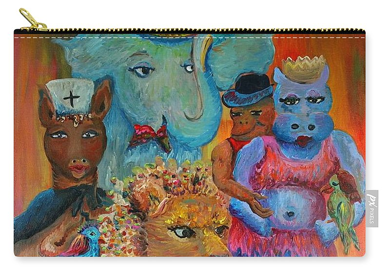 Diversity Carry-all Pouch featuring the painting Diversity by Nadine Rippelmeyer