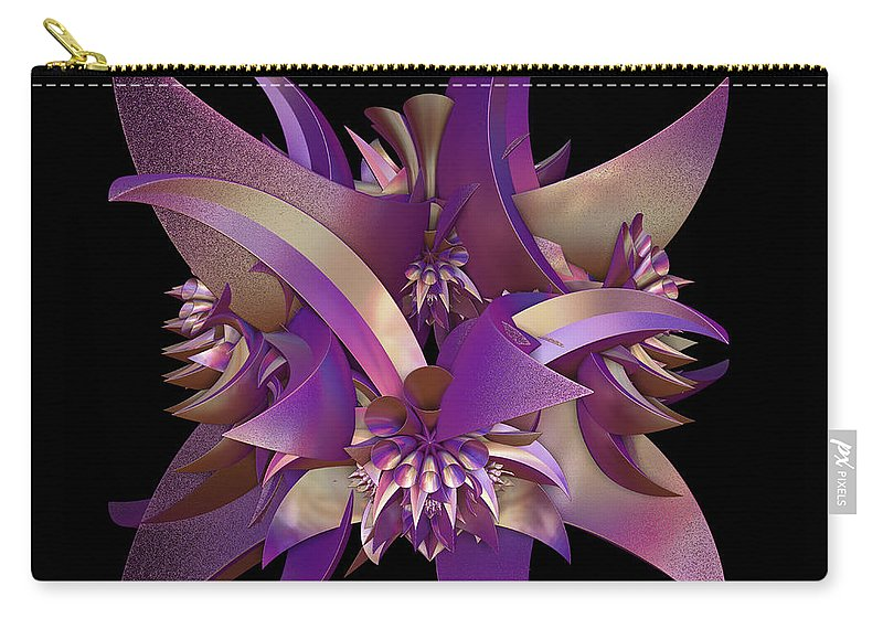 Purple Carry-all Pouch featuring the digital art Divided by Sara Raber
