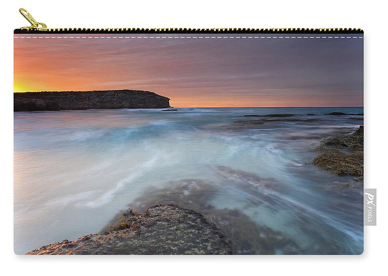 Dawn Carry-all Pouch featuring the photograph Divided Tides by Mike Dawson