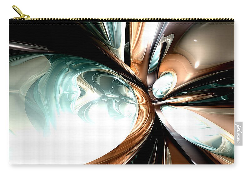 3d Carry-all Pouch featuring the digital art Divine Flavor Abstract by Alexander Butler