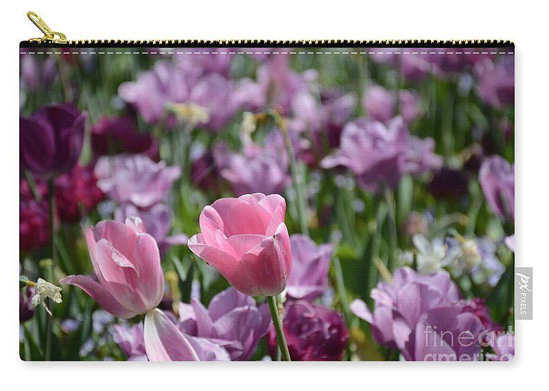 Carry-all Pouch featuring the painting Divine Tulip Display by Constance Woods