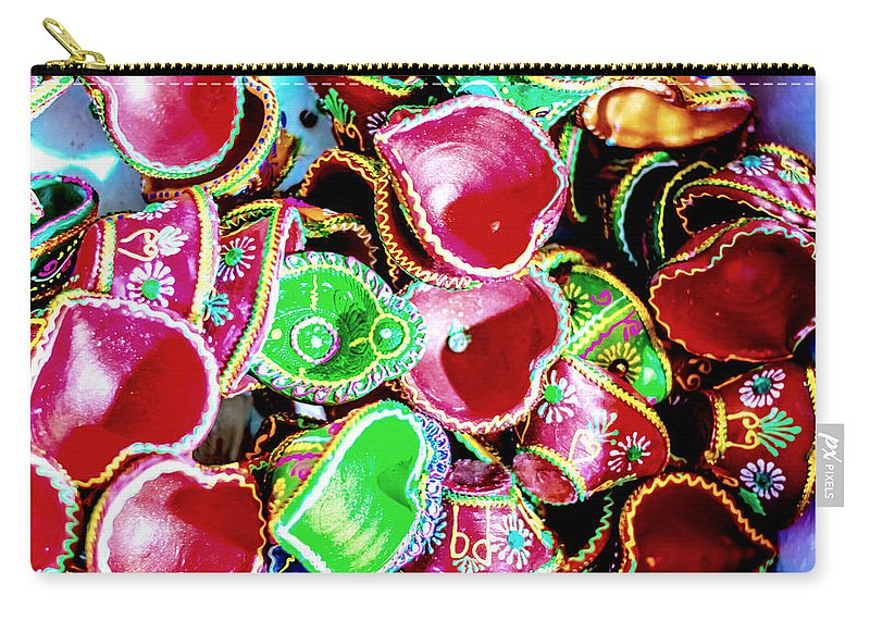 Almond Carry-all Pouch featuring the photograph Diwali Decorations 3 by Jijo George