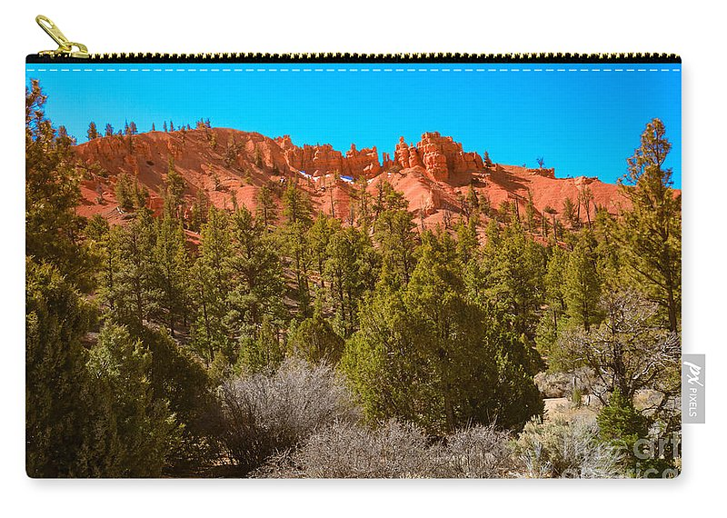 Red Canyon Carry-all Pouch featuring the photograph Dixie National Forest by Robert Bales
