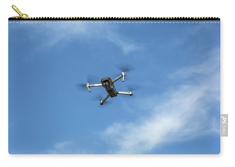 Carry-all Pouch featuring the photograph Dji Mavic Pro Platinum by Dennis Bucklin