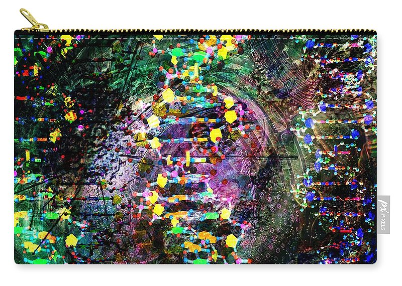 Abstract Carry-all Pouch featuring the digital art Dna Dreaming 7 by Russell Kightley