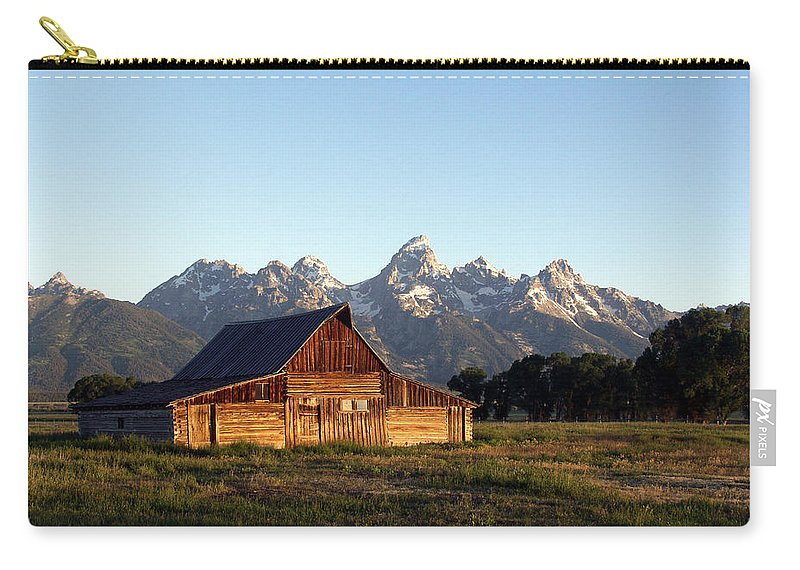 Landscape Yellowstone Grand Tetons Cabin Carry-all Pouch featuring the photograph Dnrd0104 by Henry Butz