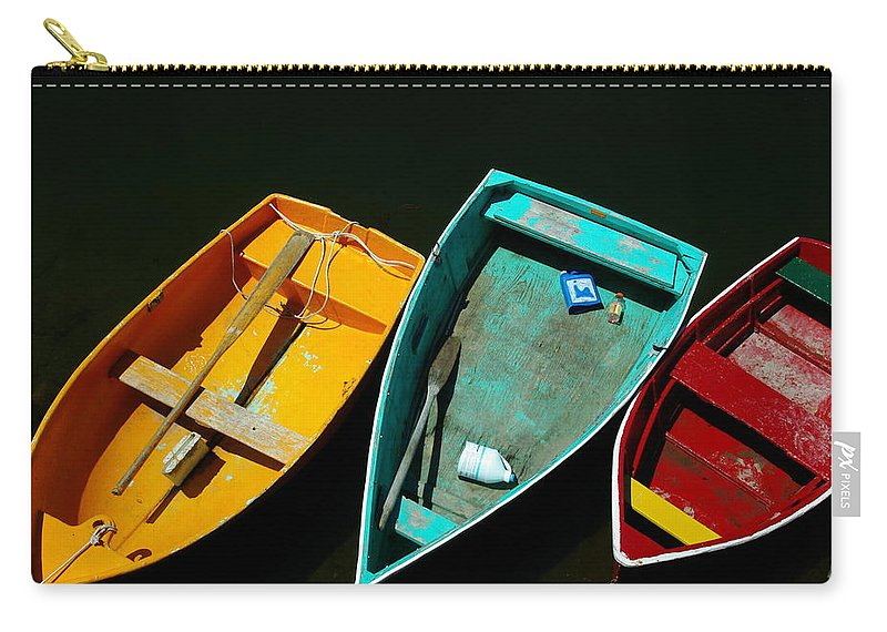 Landscape Nautical Row Boat New England Rockport Carry-all Pouch featuring the photograph Dnre0603 by Henry Butz