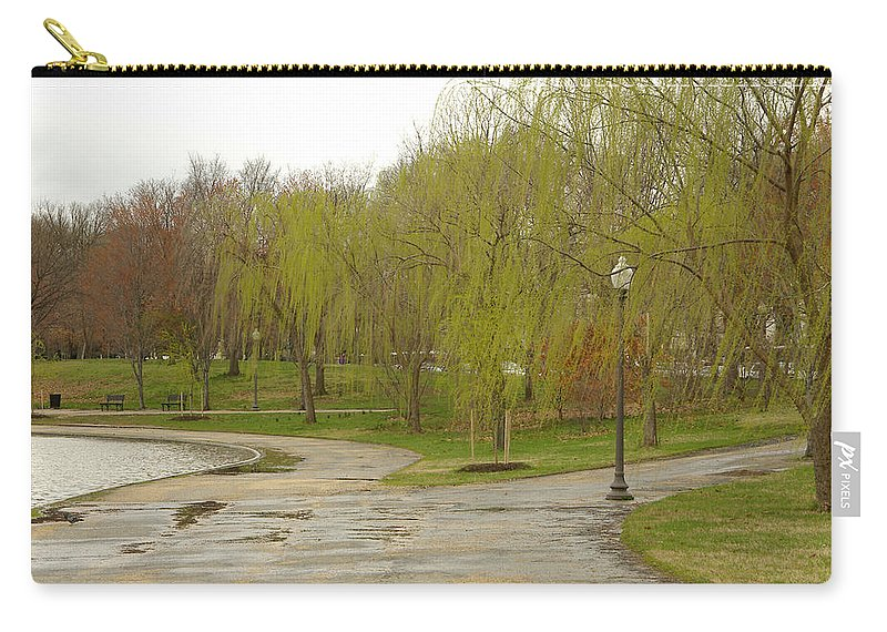Landscape Park Washington Willow Tree Lake Carry-all Pouch featuring the photograph Dnrf0401 by Henry Butz