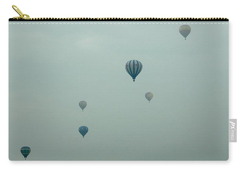 Adirondack Balloon Festival Mist Flight Carry-all Pouch featuring the photograph Dnrg0908 by Henry Butz