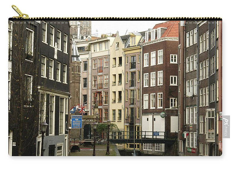Landscape Amsterdam Red Light District Carry-all Pouch featuring the photograph Dnrh1101 by Henry Butz