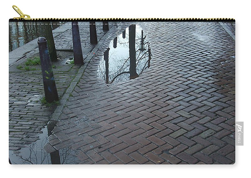 Landscape Amsterdam Red Light District Carry-all Pouch featuring the photograph Dnrh1109 by Henry Butz