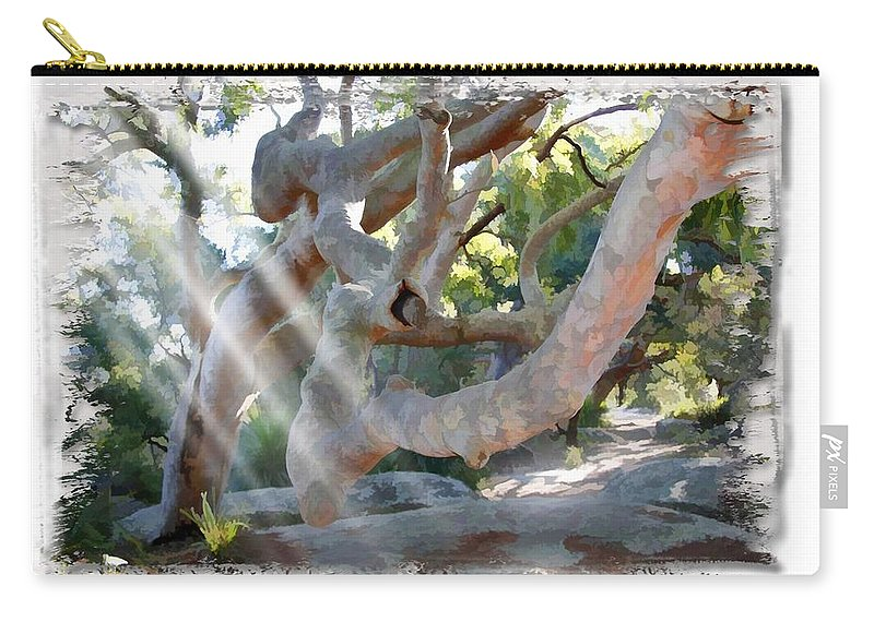 Trees Carry-all Pouch featuring the photograph Do-00044 Mount Ettalong by Digital Oil