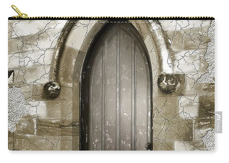 Chapels Carry-all Pouch featuring the photograph Do-00055 Chapels Door In Morpeth Village by Digital Oil