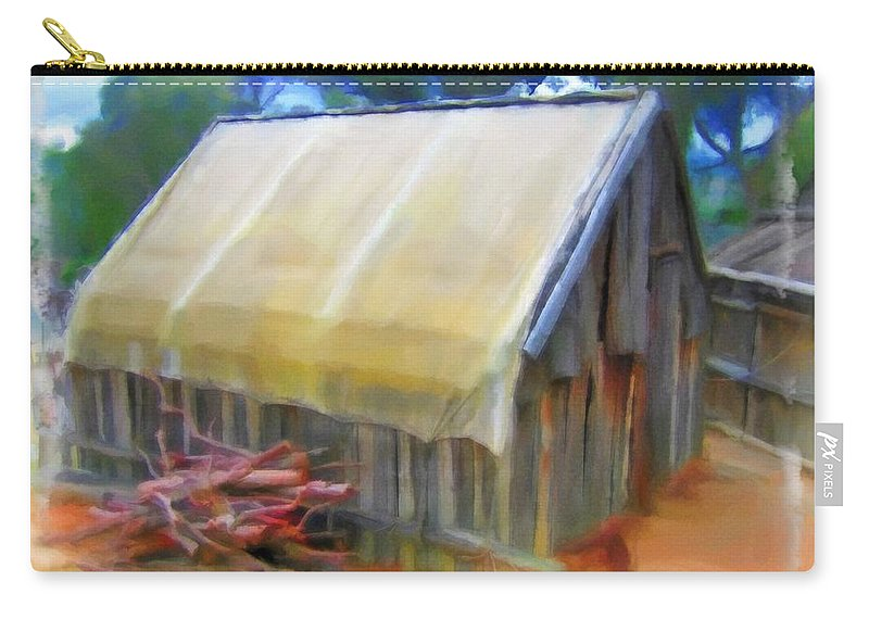 Hutt Carry-all Pouch featuring the photograph Do-00069 Small Hut by Digital Oil