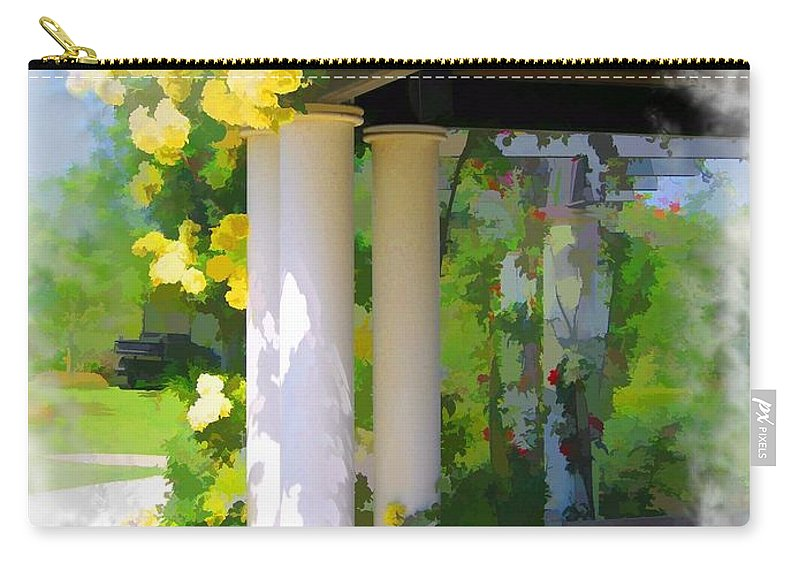 Yellow Roses Carry-all Pouch featuring the photograph Do-00137 Yellow Roses by Digital Oil