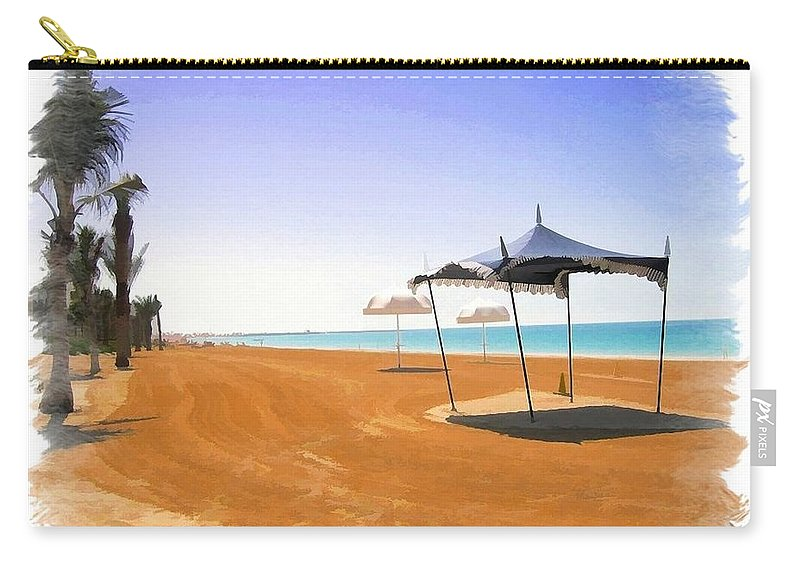 Beach Carry-all Pouch featuring the photograph Do-00155 Beach At Royal Mirage Hotel by Digital Oil