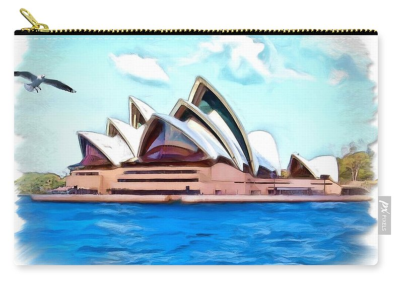 Sydney Opera House Carry-all Pouch featuring the photograph Do-00293 Sydney Opera House by Digital Oil