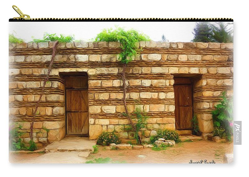 Old Hutt Carry-all Pouch featuring the photograph Do-00305 Old Hutt In Anjar by Digital Oil