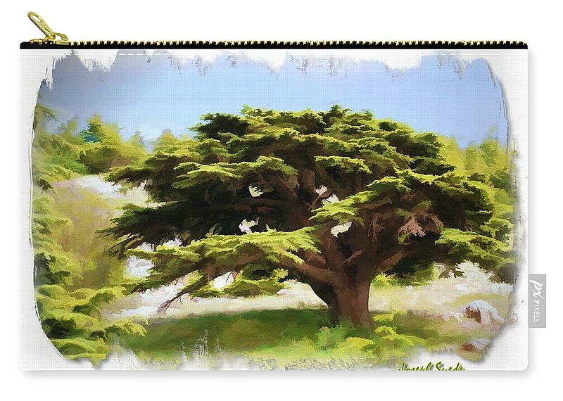 Cedar Tree Carry-all Pouch featuring the photograph Do-00319 Cedar Tree by Digital Oil
