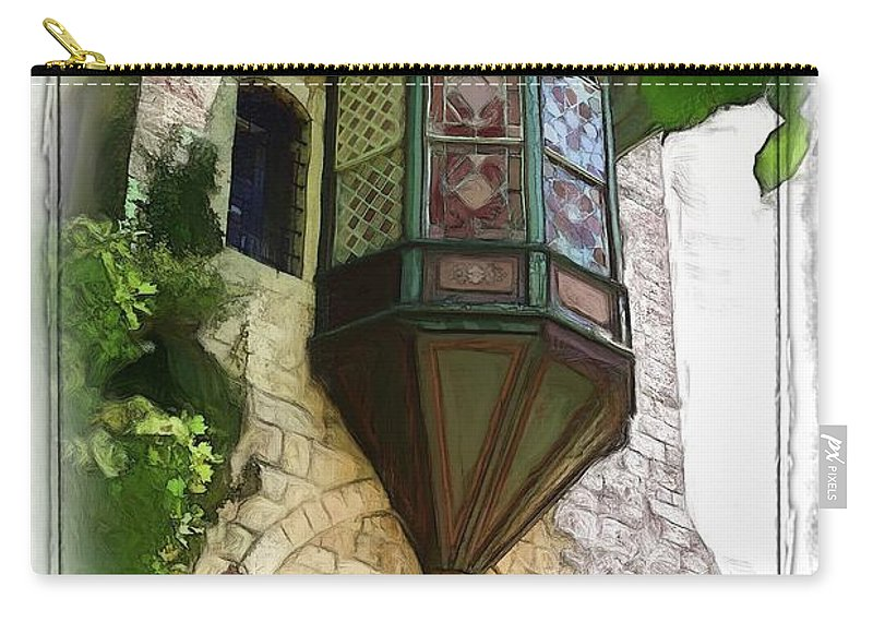 Bay Window Carry-all Pouch featuring the photograph Do-00329 Bay Window by Digital Oil