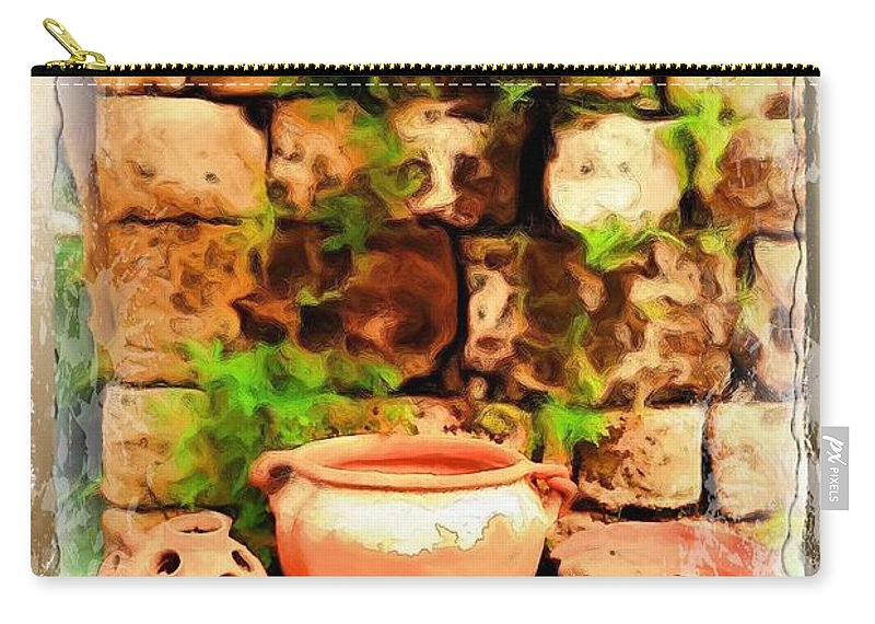 Jars Carry-all Pouch featuring the photograph Do-00348 Jars In Byblos by Digital Oil