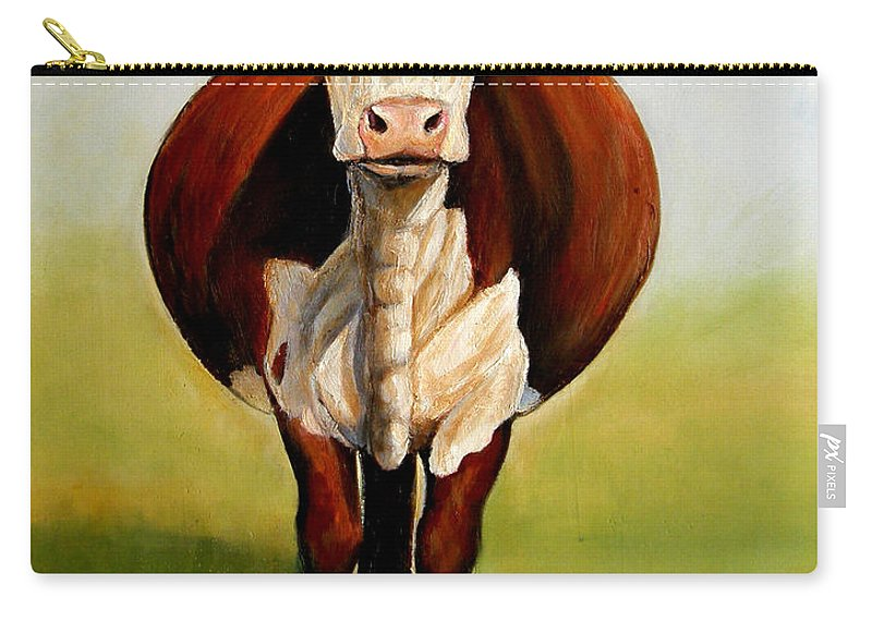 Hereford Carry-all Pouch featuring the painting Do I Look Fat by Toni Grote