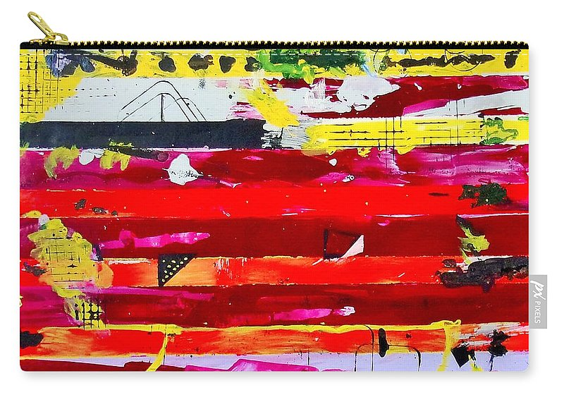 Featured Art Carry-all Pouch featuring the painting Do Not Bend by Michael Dillon