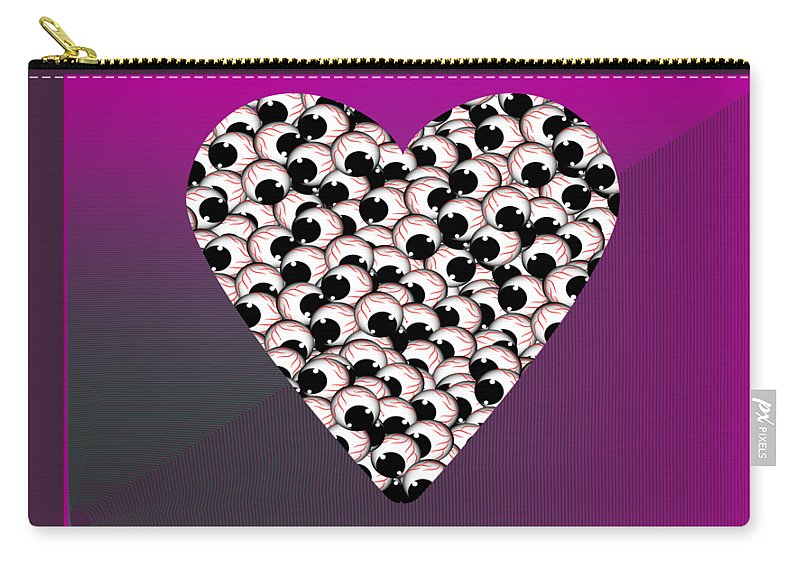Eyes Carry-all Pouch featuring the digital art Do Not Look At The Eyes Of Envy by Sobhy Kirlos
