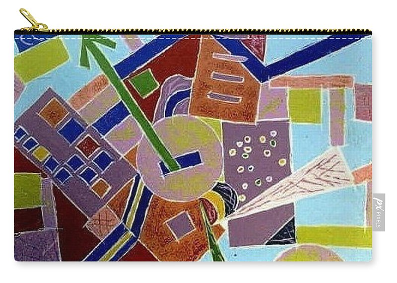 Abstract Carry-all Pouch featuring the painting Do You Know The Way To San Jose by Dawn Hough Sebaugh