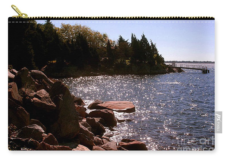 New England Photograph Carry-all Pouch featuring the photograph dock at Mount Hope Farm Bristol Rhode Island by Tom Prendergast