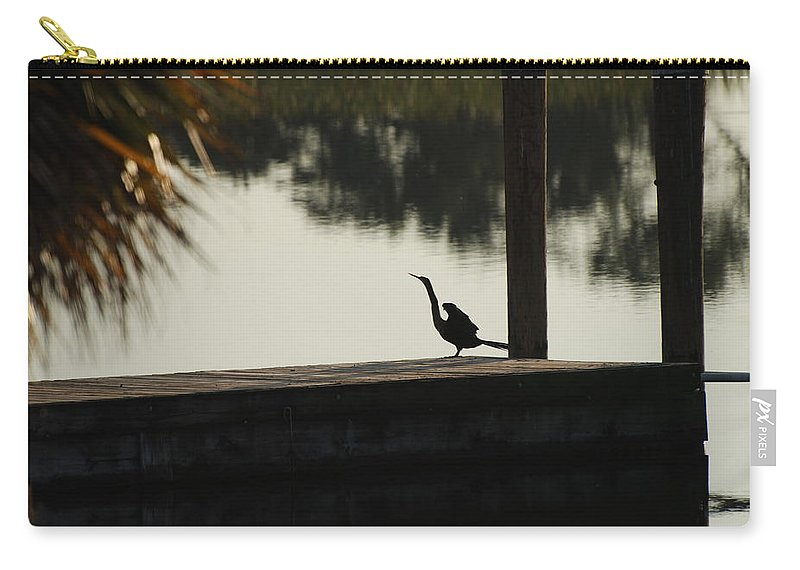 Reflections Carry-all Pouch featuring the photograph Dock Bird In Color by Rob Hans