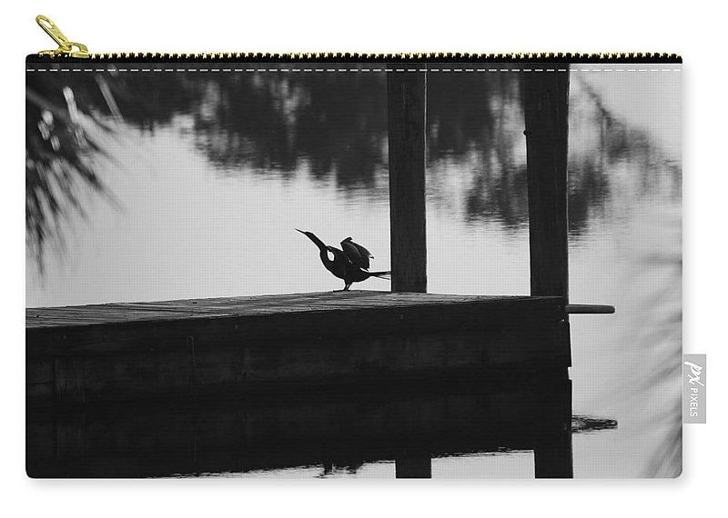 Dock Carry-all Pouch featuring the photograph Dock Bird by Rob Hans