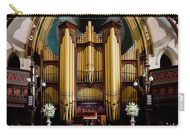 Dodd Carry-all Pouch featuring the photograph Dodd Pipe Organ Kent Town Adelaide by Jenny Setchell