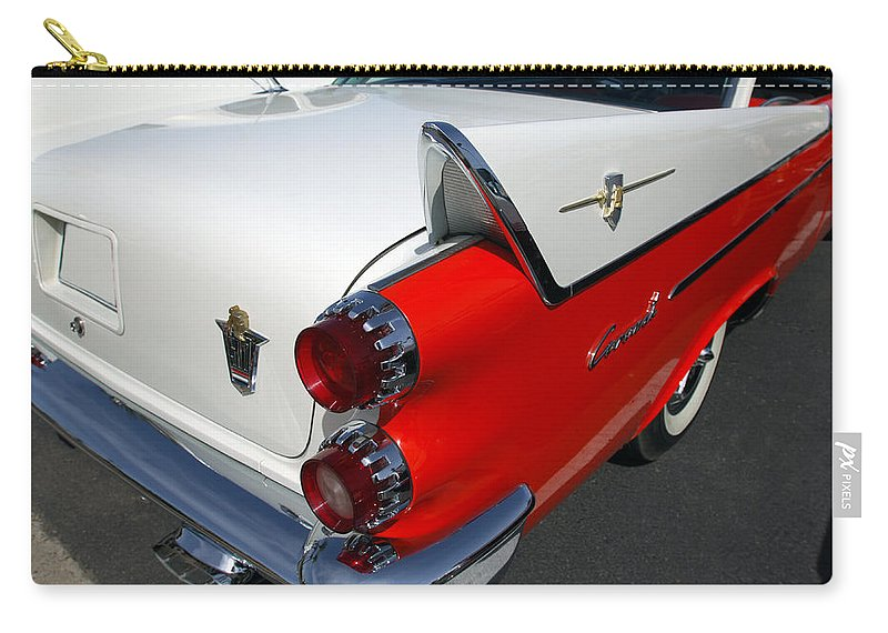 Car Carry-all Pouch featuring the photograph Dodge Coronet Tail Fin by Jill Reger