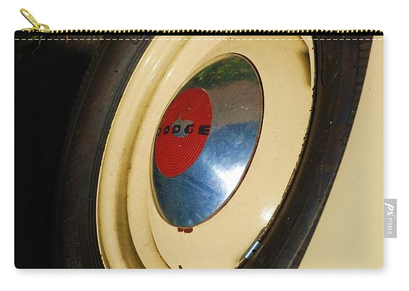 Truck Carry-all Pouch featuring the photograph Dodge Tire by Rob Hans