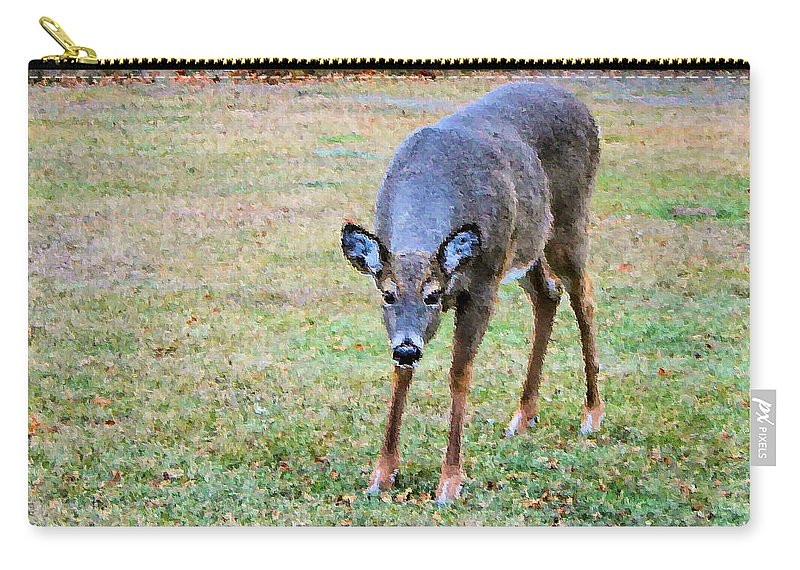 Doe Carry-all Pouch featuring the photograph Doe Stomp by Kristin Elmquist