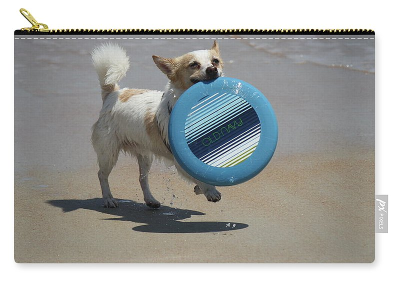 Jack Russell Carry-all Pouch featuring the photograph Dog Beach Bliss by Mandy Shupp