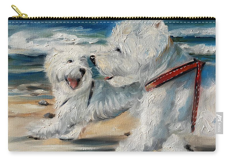 Dog Days Of Summer Carry-all Pouch featuring the painting Dog Days Of Summer by Mary Sparrow