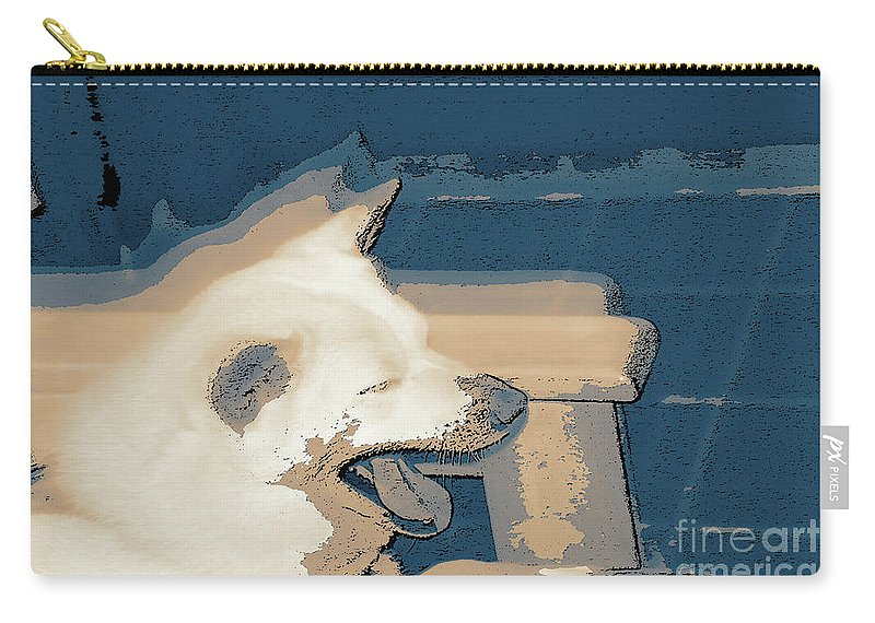 Doge Sneeze 3 Carry-all Pouch featuring the digital art Doge Sneeze 3 by Chris Taggart