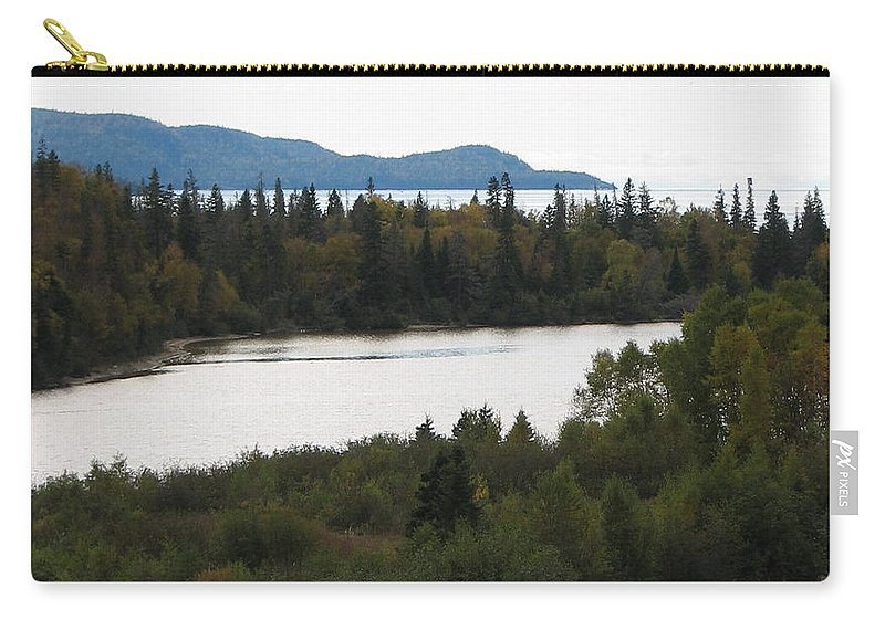 River Carry-all Pouch featuring the photograph Dogleg by Kelly Mezzapelle