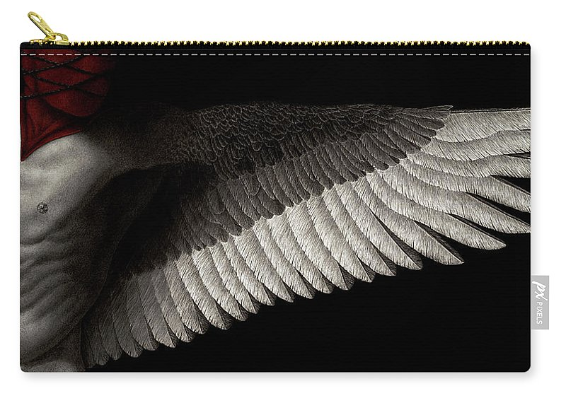 Man Carry-all Pouch featuring the painting Dogma by Pat Erickson