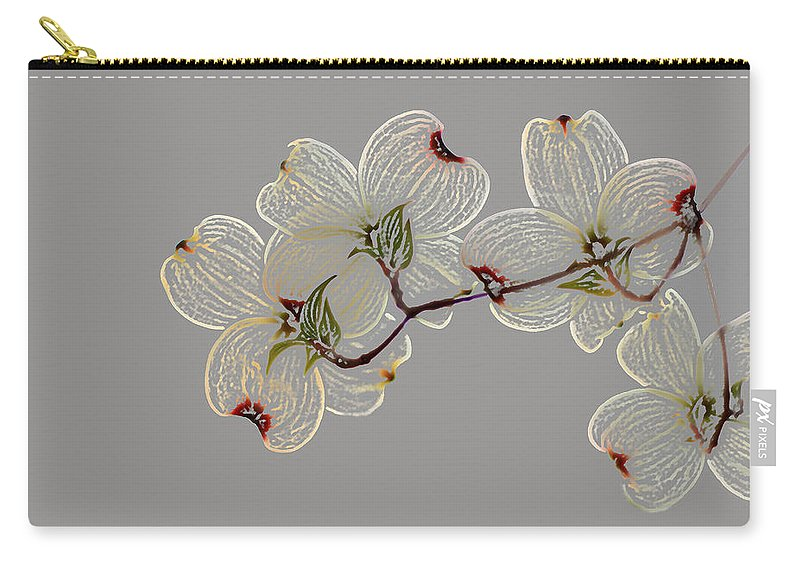 Dogwood Carry-all Pouch featuring the photograph Dogwood Flowers 3 by Andrea Kappler