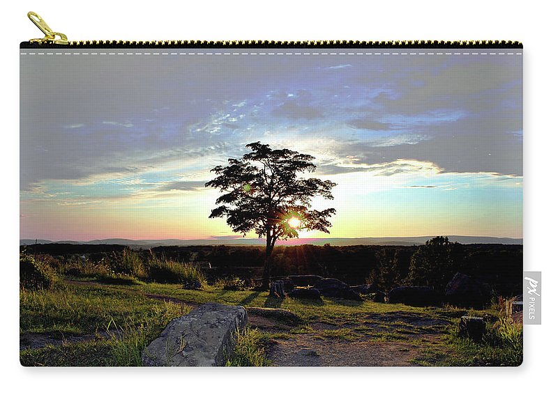 Gettysburg Carry-all Pouch featuring the photograph Dogwood On Little Round Top by Jen Goellnitz